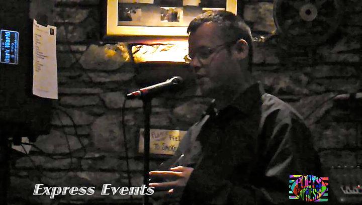 Tomás Ó Cárthaigh at Poets Express