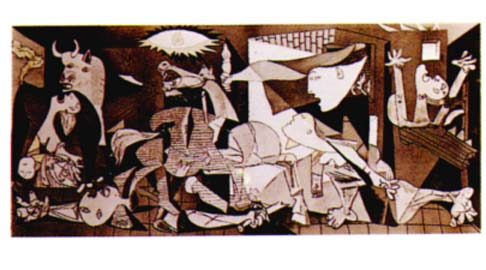 Painting by Picasso, poem by O' Cárthaigh, atrocity by Germany Remembered by Everybody