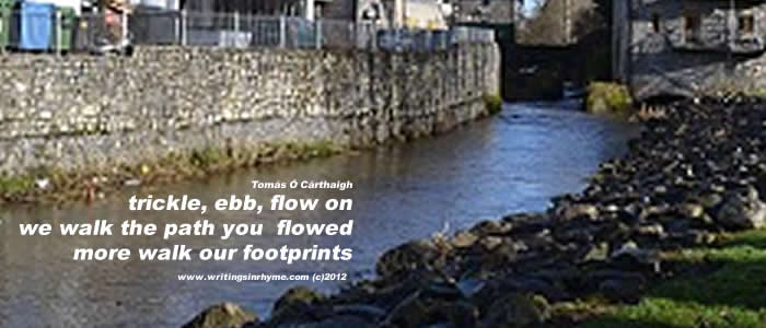 Tullamore River Flows (Haiga)