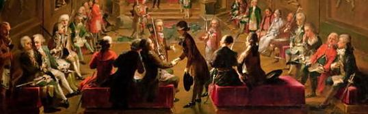 Ignaz Unterberger's painting of Mozart in a masonic Lodge in Vienna