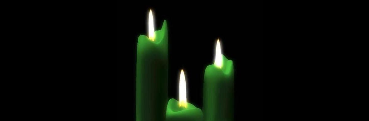 Green Lights of Hope in Windows Burn