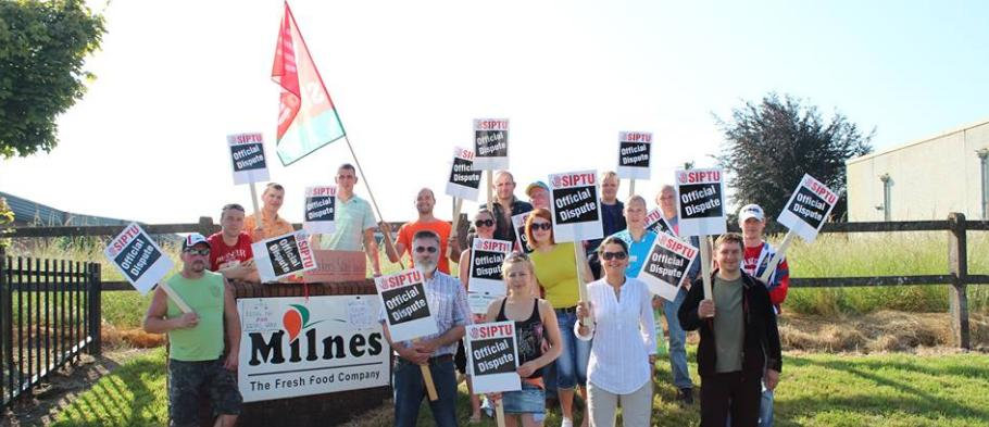 """Walking the Line"" – with the Milnes Foods SIPTU workers"