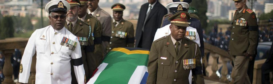 Nelson Mandela- set to be buried in South Africa, let us hope the country learns from his leadership, and does not descend into the warfare either on a large or small scale as Ireland did on independence.