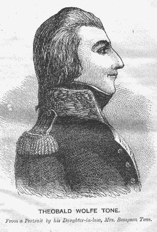 Thobald Wolfe Tone - 1798 Rebellion Leader