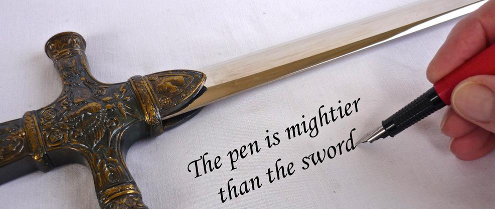 The sword seals the victory, but the pen signs the peace.