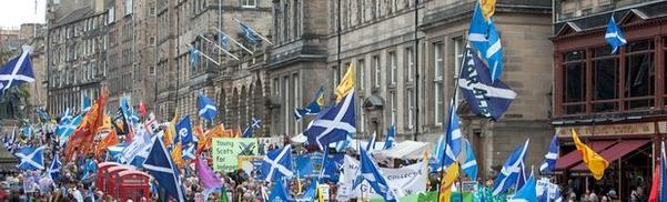 Aberdeen YES march