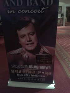 Tullamore Rhymers Club poster with Brendan Bowyer