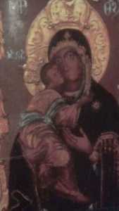 Icon from Serbian Orthodox of Our Lady. From Vrsac in Serbia.