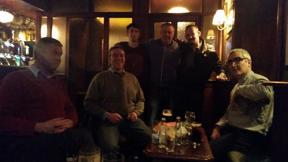 Casual shot of Tullamore Rhymers Club at Giltraps in Kinnitty