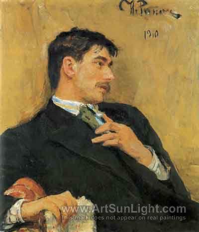 Korney Ivanovic Chukovsky - poet - painted by Ilya Repin