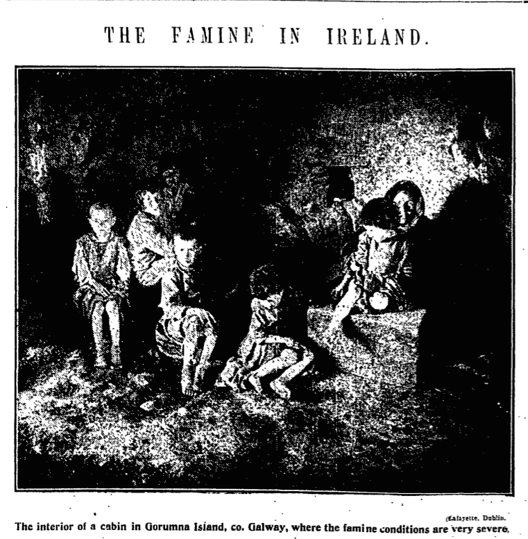 Manchester Guardian newspaper on the Irish famine of 1925
