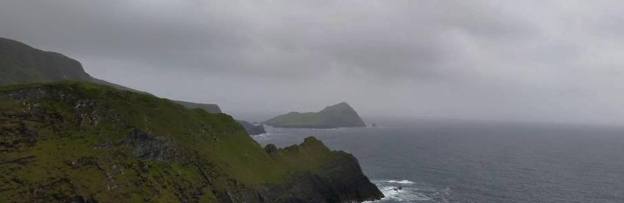 Skelligs seen through the morning mist...