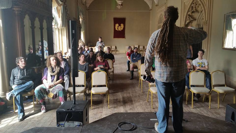 Some of the crowd at Scene of the Rhyme in Charleville Castle at Castlepalooza 2015