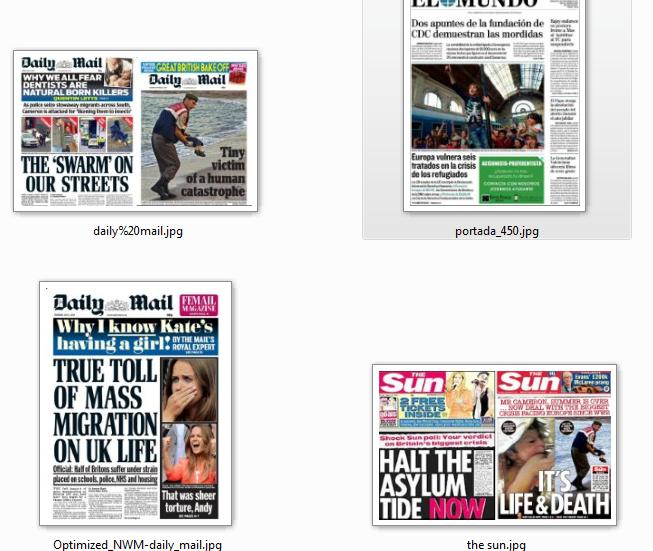 Headlines change against immigrants again - borders close. One dead boy is forgotton... all too common...