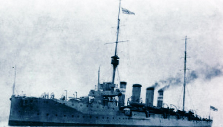 HMS Gloucester that shelled Galway city and county during 1916