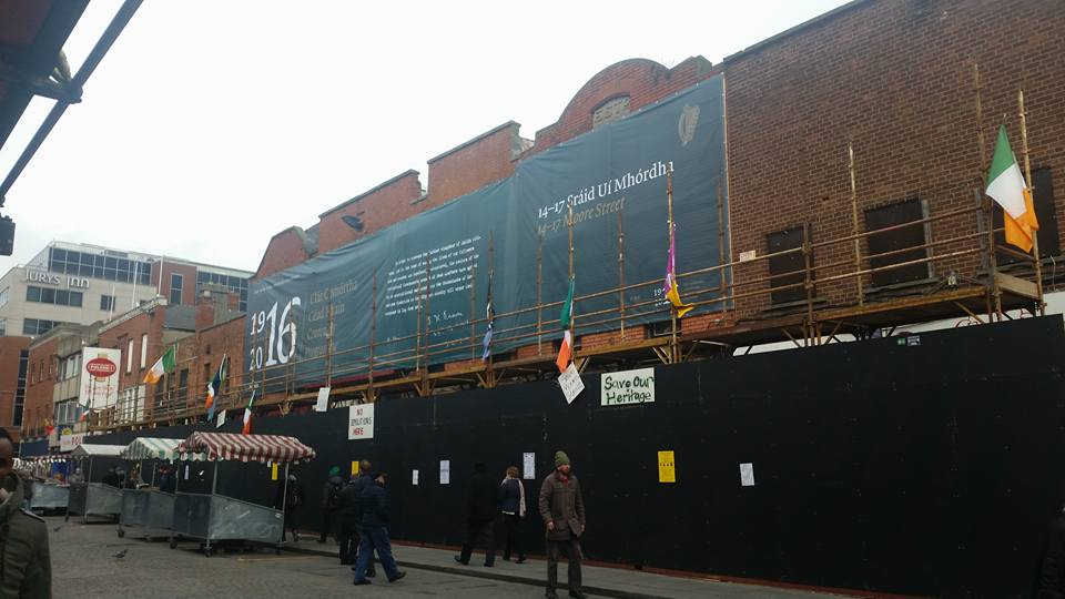 The site of the last stand of the 1916 Rebellion: developers want to tear most of it down. It is quiet this morning...
