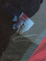 Willie Penrose leaflets in the back of the car of James Bannon