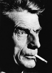 Photo of the writer Samuel Beckett, whose poem inspired these few lines...