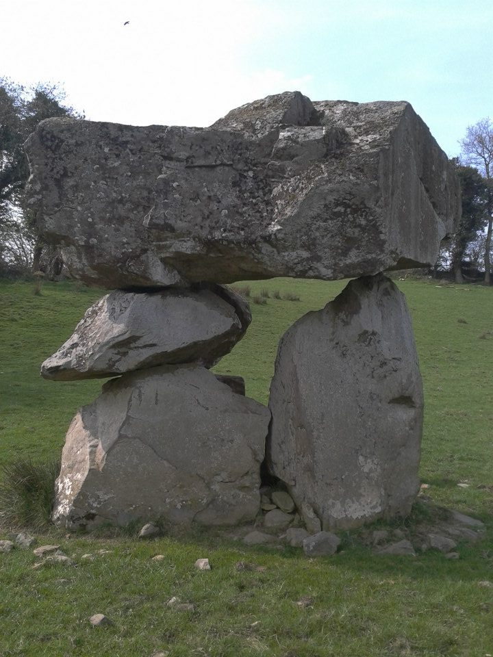 The Aughnacliffe Dolmen stone - this cromlech is known as Diarmaid and Grainnes Bed at Aughnacliffe in Longford