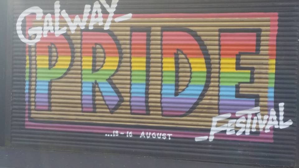 Galway Pride sign from last 2015