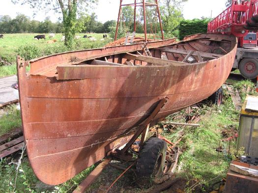 The Nita was designed and built in iron in 1868 by Bewley, Webb and Co of Dublin for the Dopping-Hepenstal family of Lough Gowna in County Longford. Despite the fact that in her long sailing life The Nita never left the waters of Lough Gowna, she was of an able seagoing shape very typical of her time, and as she too was 25 tons TM, 44ft LOA and 12ft beam, Source: http://afloat.ie/blogs/sailing-saturday-with-wm-nixon/item/24138-was-this-th%0De-first-round-ireland-voyage
