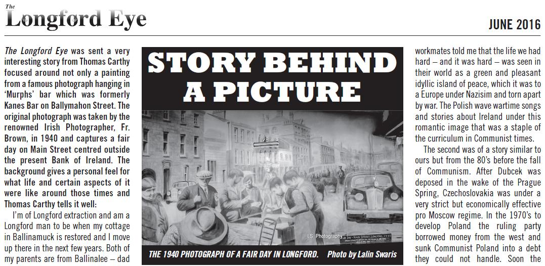 The Story Behind a Picture - Lalin Swaris in June 2016 Longford Eye