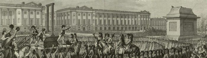"Engraving: ""Day of 21 January 1793 the death of Louis Capet on the Place de la Révolution"""