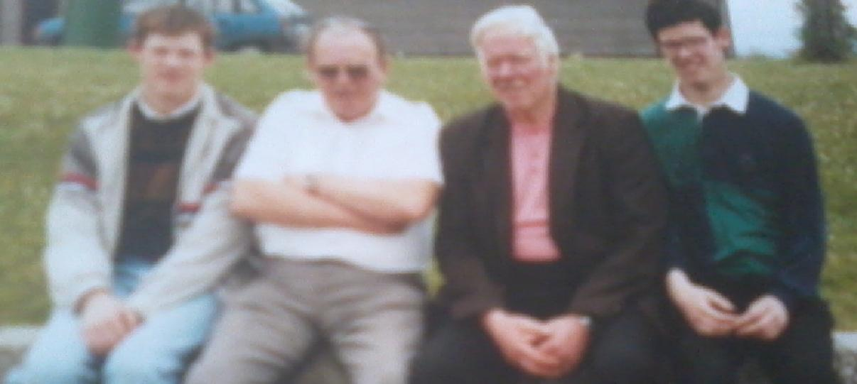 Photo of us in Portumna with Da next to me and Joe