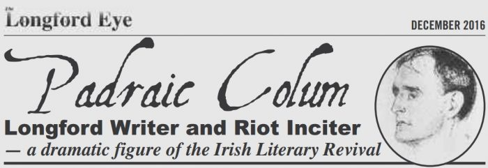 "Masthead of ""The Longford Eye"" who first published this article based on the photo from Lalin Swaris"