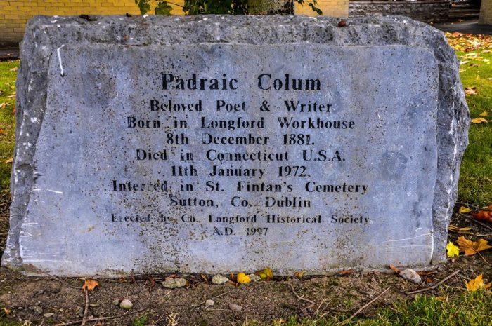 Stone to Padraic Colum in Longford - photo by Lalin Swaris