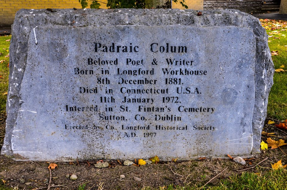 Stone to Padraic Colum in Longford - photo by Lalin Swaris