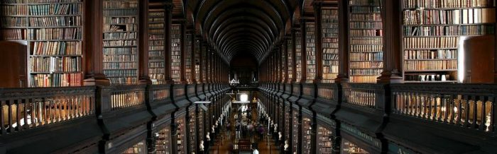 Trinity College Library in Dublin in Ireland