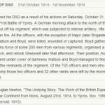John Boyd Doppings DSO citation for the Battle of Gheluvelt