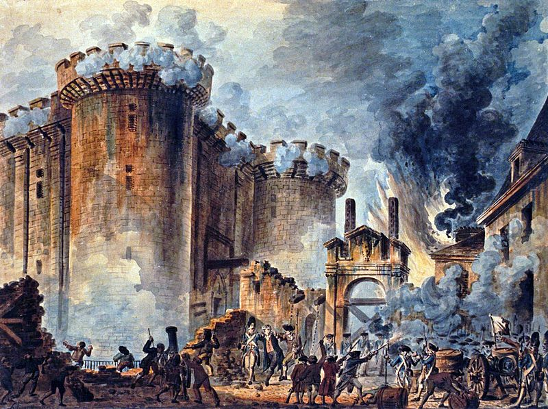 Storming of The Bastile by Jean-Pierre Houël