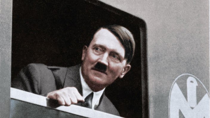 Adolf Hitler on a train