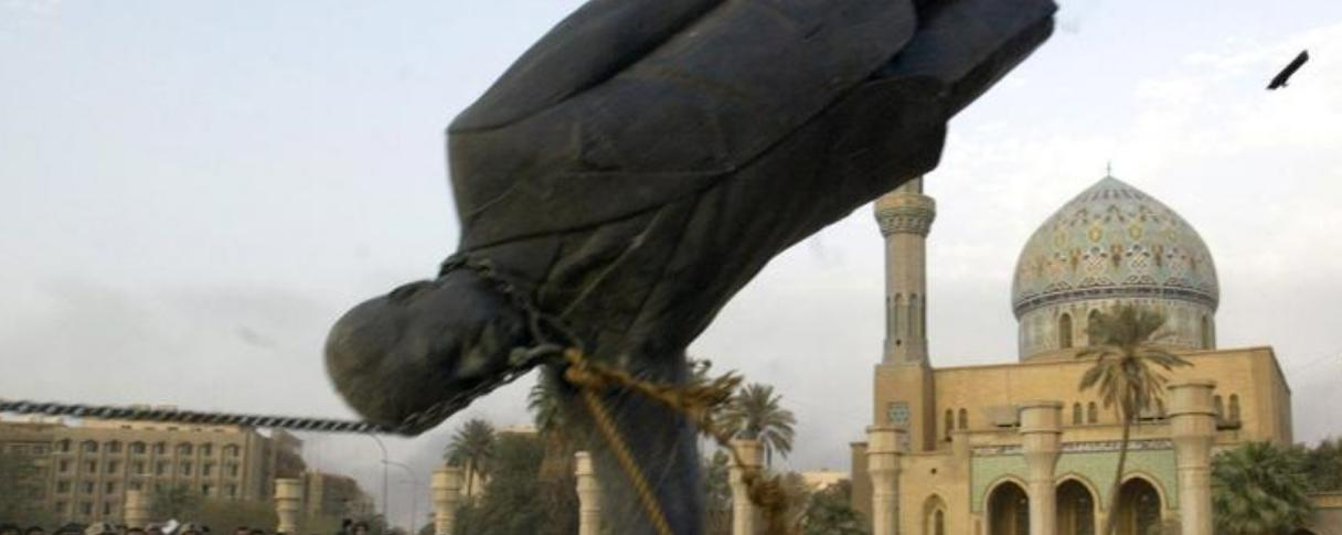Statue of Saddam Hussein is torn down in Iraq