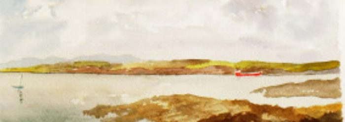 View from Hook Head - Detail of painting by Julian Lovegrove