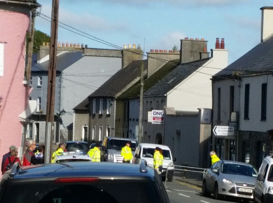 Checkpoints at the Crank House during the 2017 Banagher Horse Fair