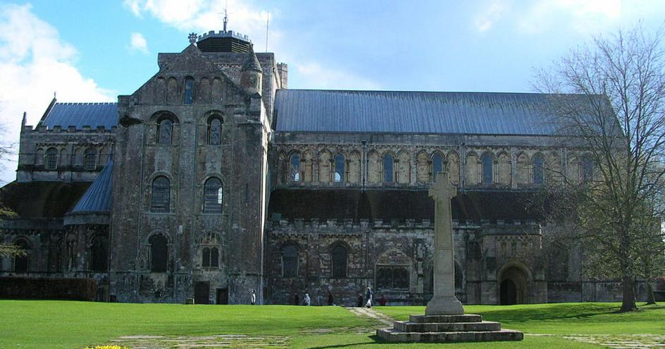Romsey Abbey in Hampshire in England
