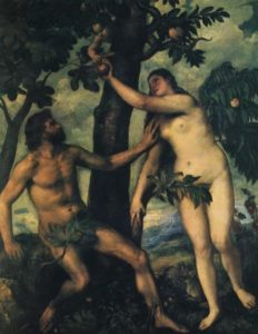 The Fall of Man - Painting by Titian