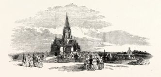 Finchley Cemetry when it was consecrated in 1854