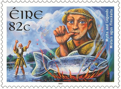 """""""Salmon of Knowledge"""" - Irish Stamp from An Post"""