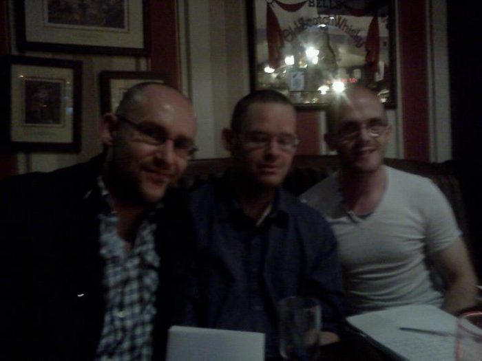 With the Tullamore Rhymers at the launch of Ken Humes book